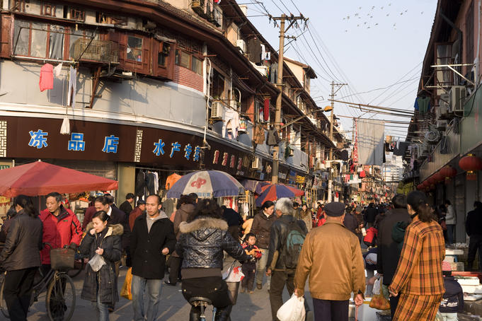 Dajing Road in Old Town.
