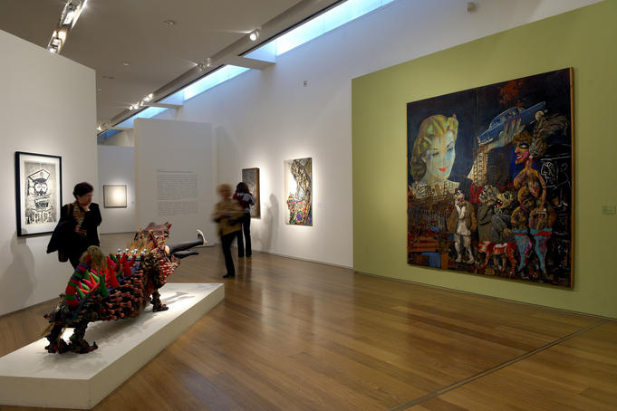 Interior display at Malba (Latin American Art Museum of Buenos Aires).