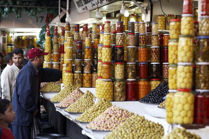 Olives for sale in souq.