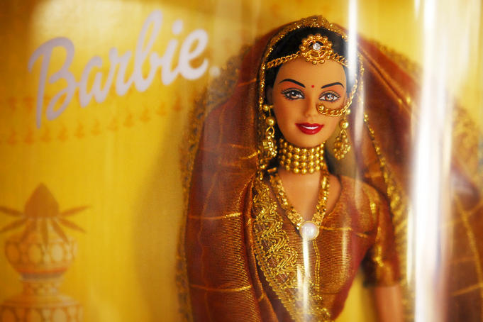 Detail of Indian Barbie doll.