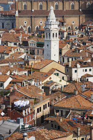Venice rooftops seen from Campanile tower.