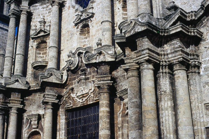 The Catedral de San Cristobal de La Habana, a baroque construction begun in 1748