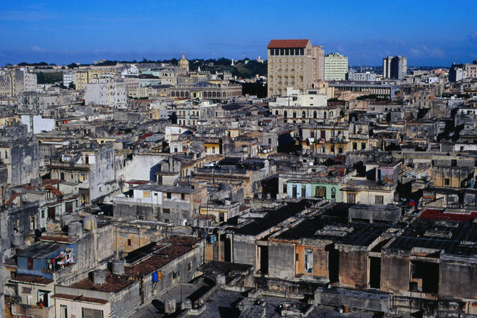 View over the rooftops of central Havana