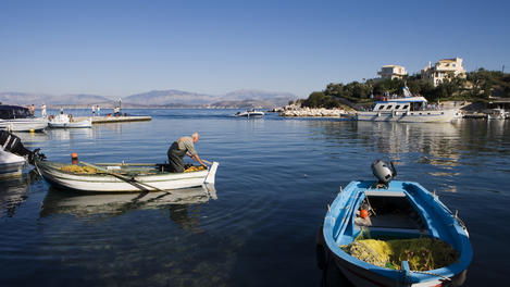 Fishing boats, Corfu