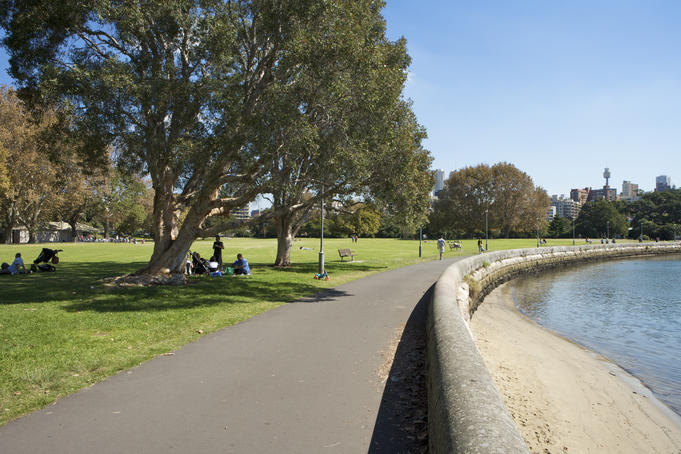 Rushcutters Bay Park, Rushcutters Bay.