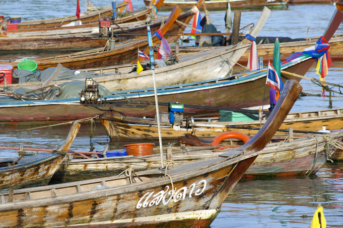 Fishing boats at Rawai.