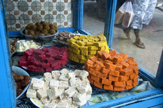 Indian sweet stall.
