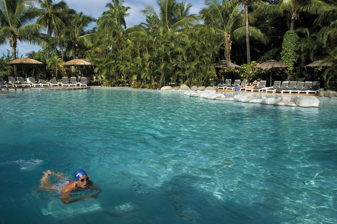 Swimming pool at Outrigger Resort.