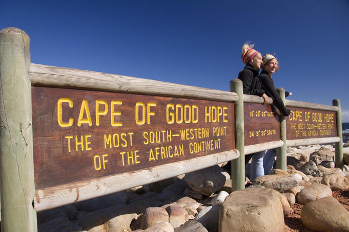 Cape of Good Hope sign on Cape Peninsula.