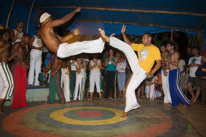 Brazilian martial arts/dance practice of Capoeira.