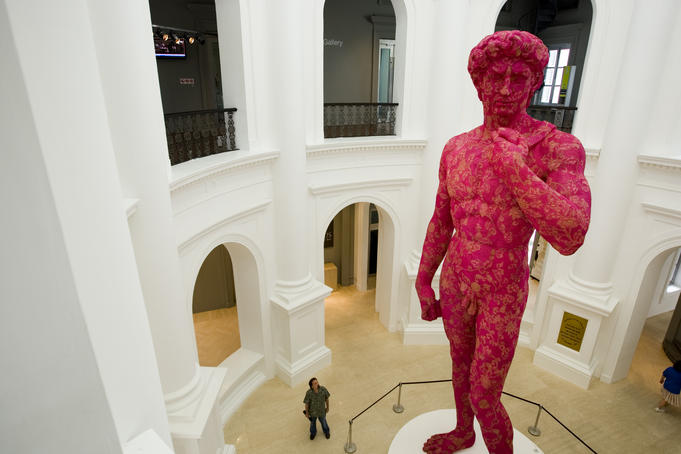 David replica statue in the Rotunda, National Museum of Singapore.