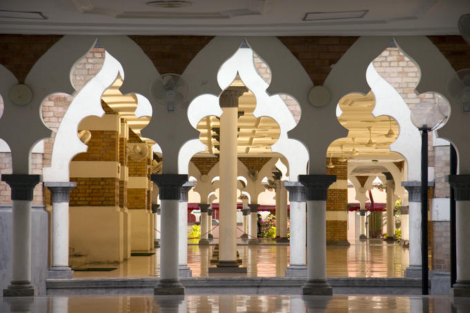 Interior of Masjid Jamek mosque.