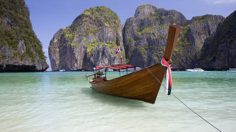 Wooden boat, Krabi