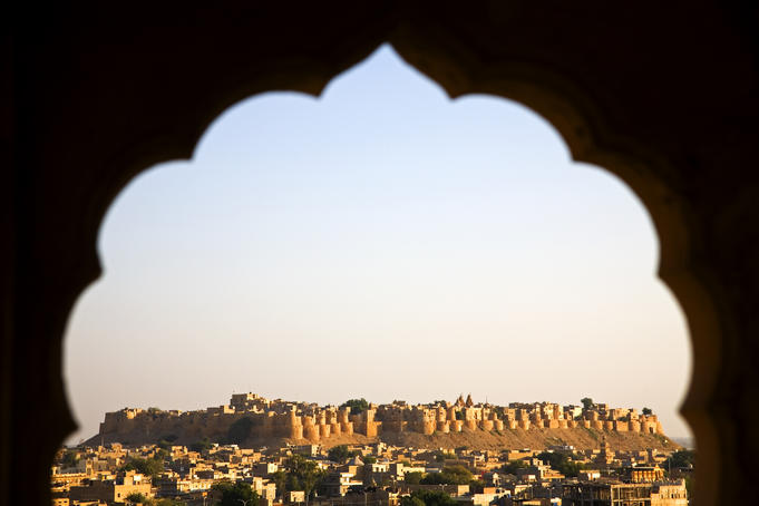 Jaisalmer Fort from Vyass Chhatris.