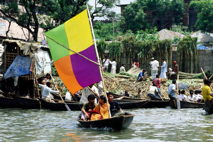 Passenger ferry on Buriganga River.