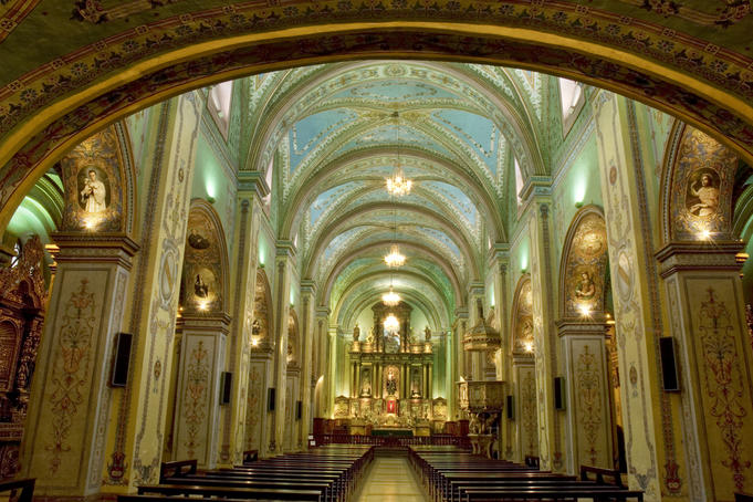 Central nave, Church and Convent of San Agustin.