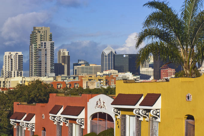 Downtown of San Diego, seen from Sherman Heights.