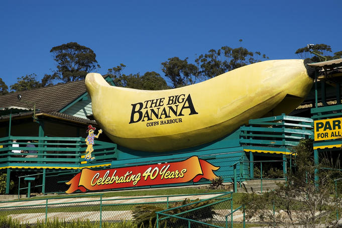 The Big Banana tourist attraction.