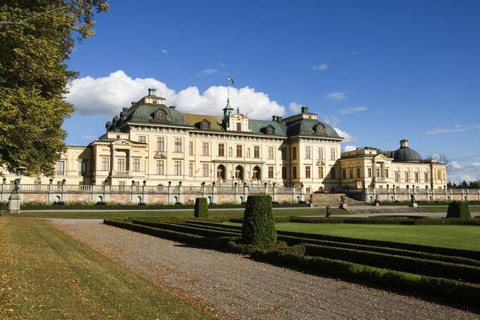 Drottningholm Palace, private residence of the Swedish Royal Family.