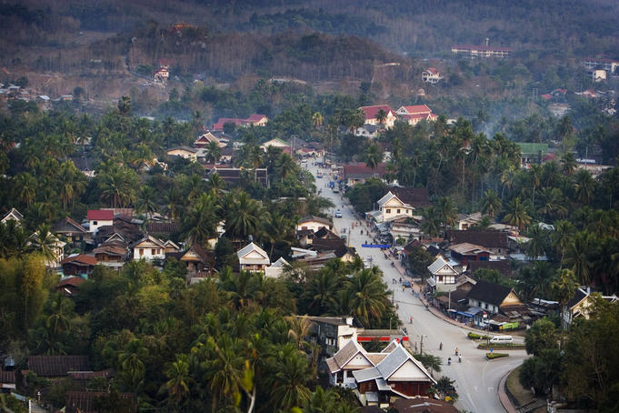 Overlooking Luang Prabang to the northwest.