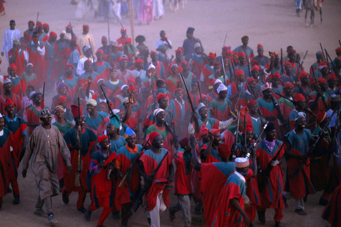 The popular Durbar Festival of Kano performed during sallah (Islamic celebration) and special occasions. The spectacular traditional parade of ornately dressed Hausa-Fulani horsemen pays an annual homage to the Emir.