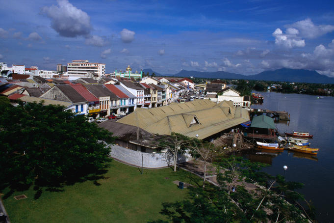 "The city and waterfront market of Kuching, it was given its name in 1872 by Charles Brooke, Kuching means "" cat "" in Malay"