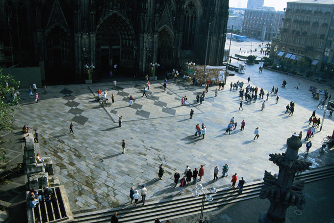 The inner platform of Cologne's Dom, the cathedral was lucky enough to survive the bombings of WWII and in 1996 was listed as a UNESCO World Cultural Heritage site