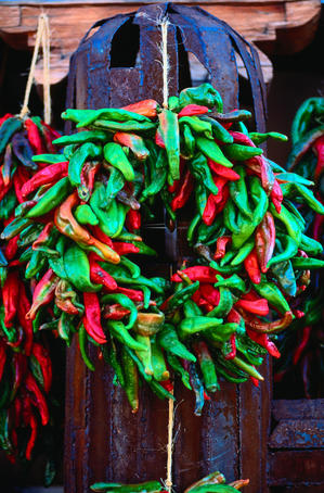 Chilli wreath.