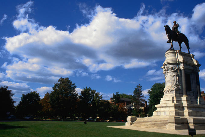 The Robert.E.Lee (field commander of the United States Army) Monument on Monument Avenue in Richmond. Lee was born in 1807 in Westmoreland County and died in 1870 in Lexington.