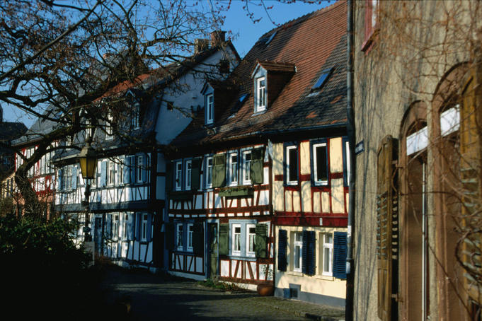 Traditional houses in the old town near Schlosspark - Frankfurt, Hesse