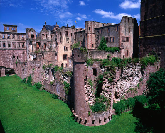 Ruins of Heidelberg Castle.