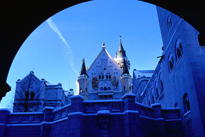 A fairytale winter at Neuschwanstein castle. Built and designed by Ludwig the second. The castle was begun in 1869 and never finished.