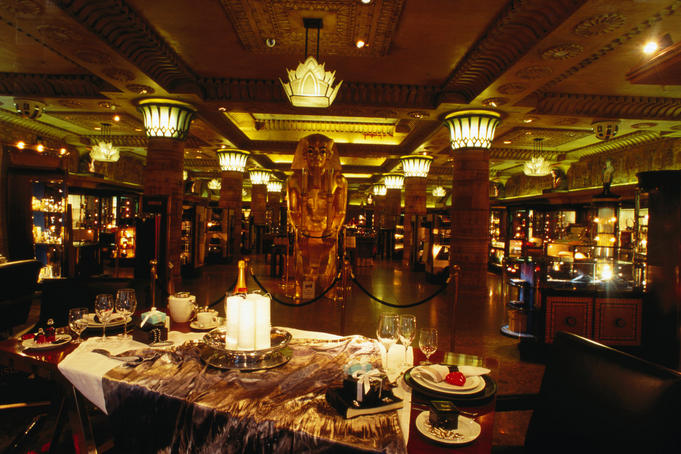 Inside Harrods, Egyptian display inside the famous store - London, Greater London, England
