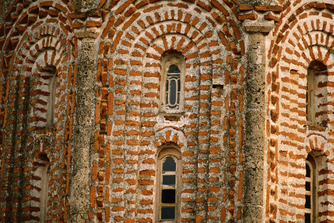 Windows of Church of Sveti Sofija (Church of Saint Sophia).
