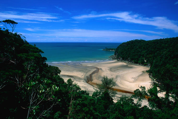Walking tracks are throughout the Bako National Park, one walk takes you to the cove of Telok Pandan Besar