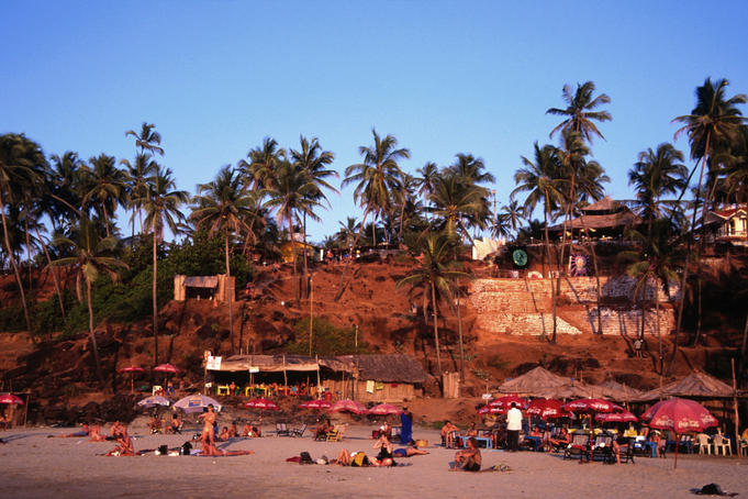 Little Vagator beach in Goa.