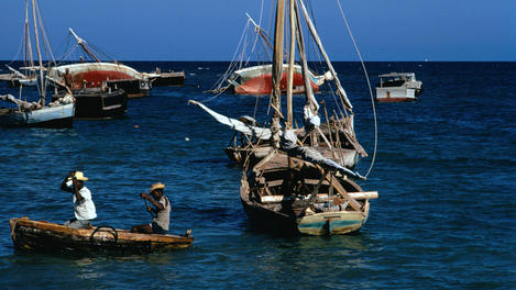 Fishing boats, Haiti