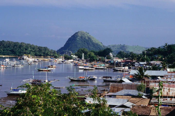 Town of Labuanbajo in Flores.