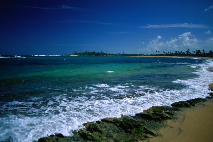 Playa El Luquillo in Puerto Rico.