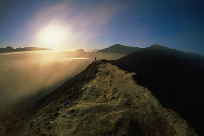 Sunrise over Gunang Bromo.