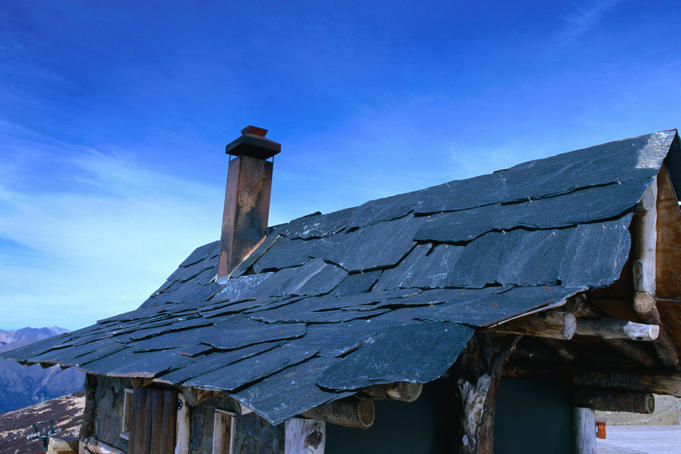 Granite roof of a house on Cerro Catedral (2388m), in the Patagonia region of Argentina
