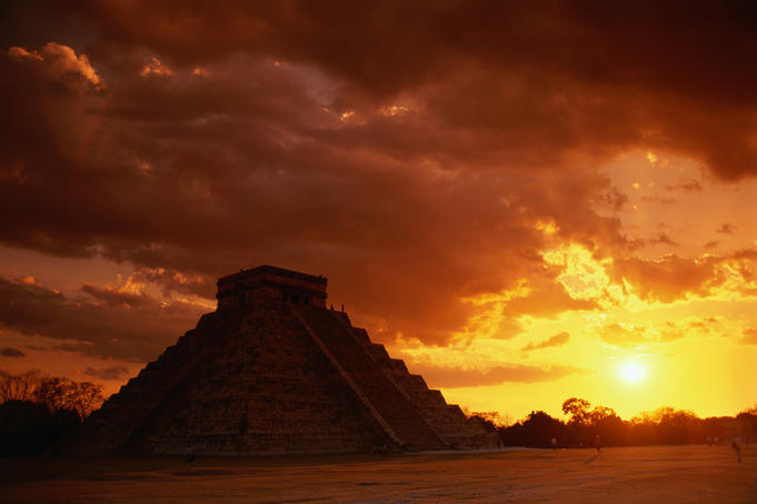 The Castle (El Castillo), also known as Pyramid of Kukulcan.