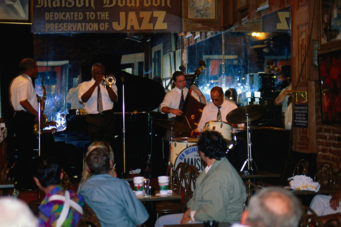 Dixieland band at Maison Bourbon on Bourbon Street, New Orleans