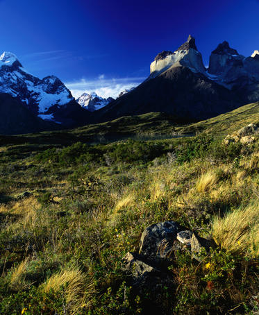 Cuernos del Paine in the Torres del Paine National Park.