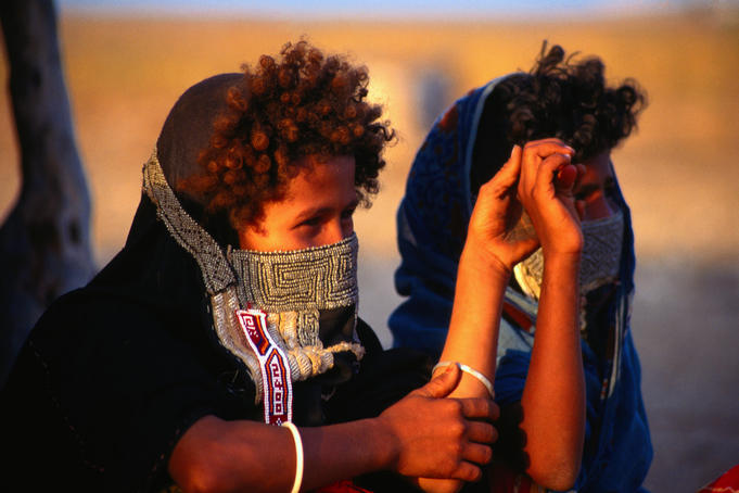 Two Rashaida tribal children in Gurgusum.
