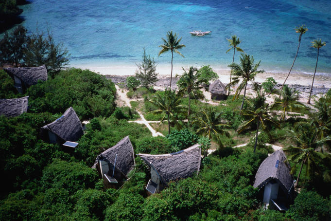 "Genuinely eco-friendly Chumbe Island Lodge, winner of the British Airways "" Tourism for Tomorrow "" award, Zanzibar"