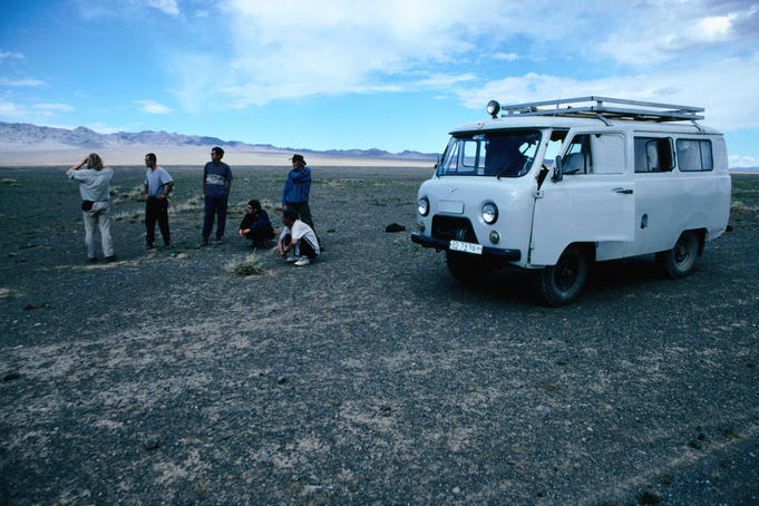The Furgon minivan, a Russian-made 11-seater, is the most popular means of travel for budget travellers in Mongolia