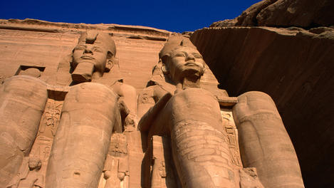 Giant statues at Abu Simbel, Egypt