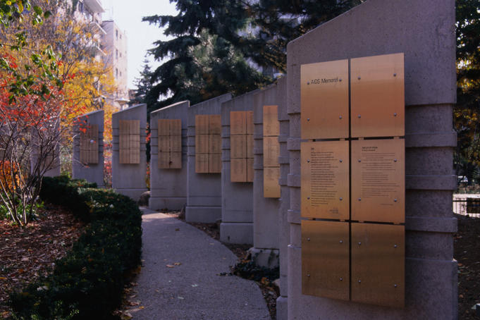 AIDS Memorial in Cawthra Square Park.