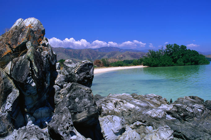 Coastal view along the Dili/ Manatuto road, east of Dili.